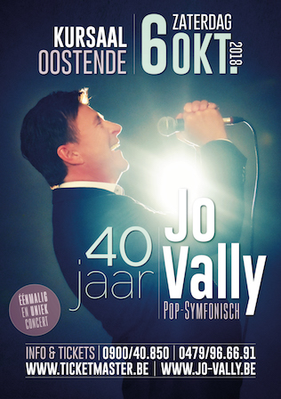 40 jaar Jo Vally flyer