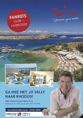 Ga mee met Jo Vally naar Rhodos