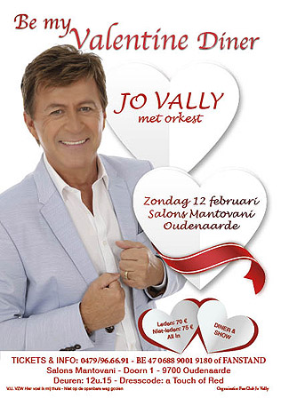 Be my Valentine diner met Jo Vally